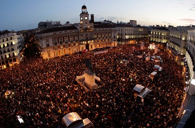 protest in Madrid