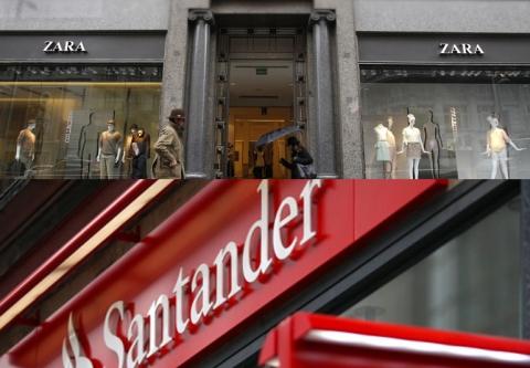 Zara y Santander entran en la lista de los 100 mejores marcas en el mundo