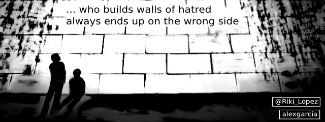 Our Weekly Cartoon - Walls of hatred